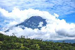 Gunung Agung active volcano in Bali, Indonesia.