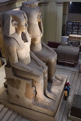 Amenhotep III statue in Egyptian Antiquities Museum in Cairo, Egypt