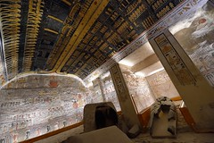 Burial chamber of Ramses V/VI at Valley of the Kings in Luxor, Egypt