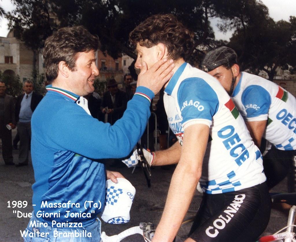Due giorni Jonica, Miro Panizza si congratula con il vincitore Walter Brambilla - 15 aprile 1989