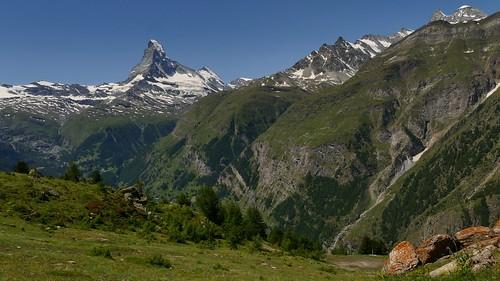freie Sicht auf  das Matterhorn