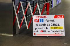 TCL / Information interruption ligne MB - Station : Charpennes