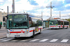 TCL / Irisbus Citelis 12 n°3828 et Irisbus Citelis 18 n°2028
