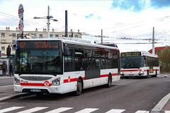 TCL / Iveco Urbanway 12 n°2716 et Irisbus Agora Line n°1329