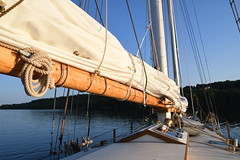Anchored for the night -- Aboard the Schooner Huron Jewel