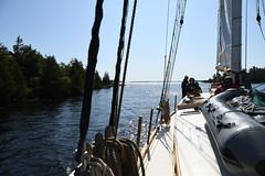 Navigating through the Little Detroit passage Aboard the Schooner Huron Jewel