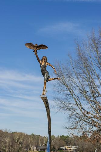 Manderson Landing Minerva Statue 2