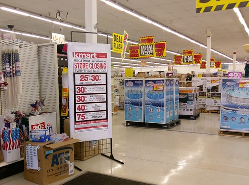 Muscle Shoals Kmart closing bargains, just prior to July 4, 2017