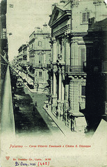 Palermo - Corso Vittorio Emanuele e Chiesa di S. Giuseppe