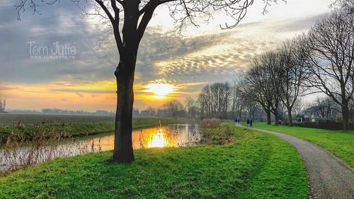December Sunset, Odijk, Netherlands - 3116