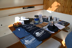 Ship wares and souveniers for sale --The Schooner Huron Jewel at Discovery Harbour, Penetanguishene, Ontario
