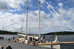 Ship tours are underway on The Schooner Huron Jewel at Discovery Harbour, Penetanguishene, Ontario