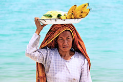 Portrait of a local woman in Lombok, Nusa Tenggara, Indonesia
