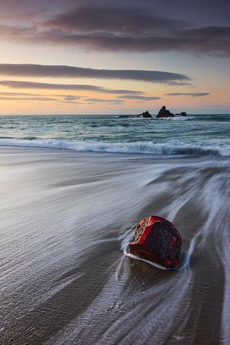 Garrarus Beach Red Log