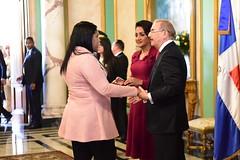 Presidente Danilo Medina recibe saludos de Año Nuevo en el Palacio Nacional (2/3)