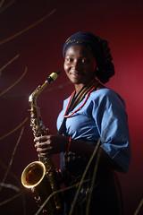 Lady Sax Musician Female Music Edited 2020