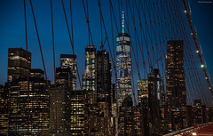 Blue hour from Brooklyn Bridge