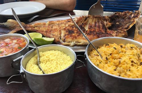 Big fish dish, Manaus, Brazil