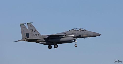 United States Air Force McDonnell Douglas F-15E Strike Eagle SJ/89-0498, 335 FS, 4 FW at NAS Rota/LERT