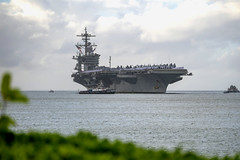 USS Abraham Lincoln (CVN 72) arrives at Joint Base Pearl Harbor-Hickam.