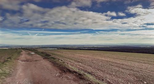 Une vue sur la plaine lors de ma sortie vélo