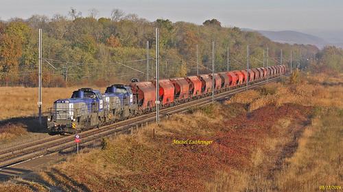 UM DE18 005-0 008-4 Train 60893 Hausbergen-Richwiller à Staffelfelden
