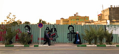Iran, Qom - Political street art - October 2019