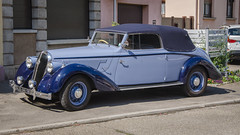 Hotchkiss 686 Biarritz convertible de 1939 - Photo of Avolsheim