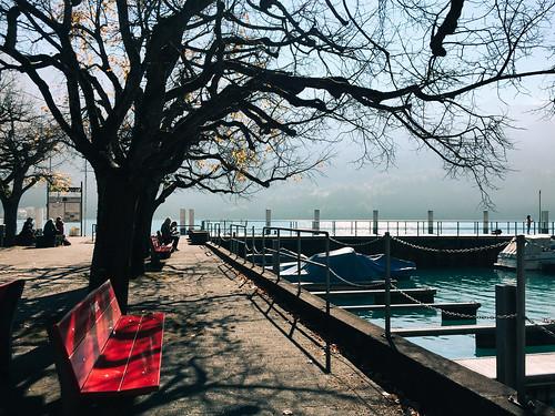 Lakeside park in Brienz, Switzerland