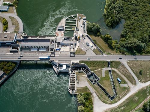 Fischpass der Staustufe Iffezheim/Rhein