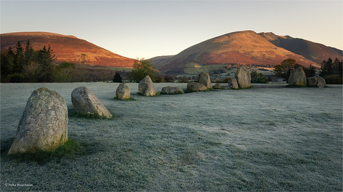 Frosty sunrise at Castlerigg Stone Circle