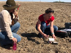 Soil Scientist - Jennifer Moffitt (right)