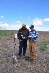 Soil Conservationist - Garrett Duyck (right) with farmer Noah Williams _ 2