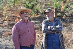 District Conservationist - Mike Buron (left) with landowner