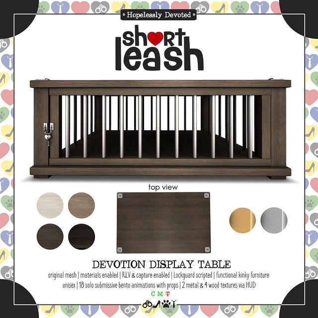 .:Short Leash:. Devotion Display Table