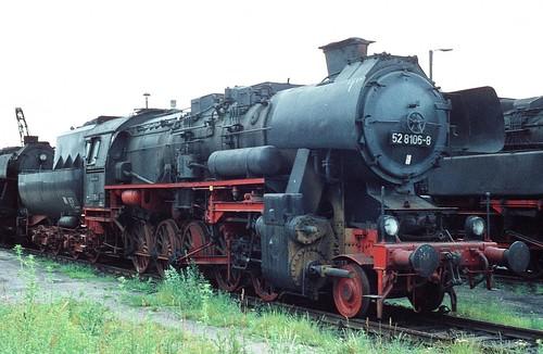 DR 52 8106-8 (ex 52 8106; Reko Raw Stendal 20.06.1964 ex 52 6159) Bw Altenburg i.R.