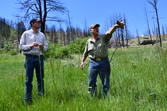 District Conservationist - Aaron Roth (left) with landowner