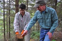 District Conservationist - Kate Danks (left) with landowner
