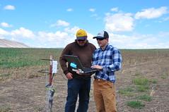 Soil Conservationist - Garrett Duyck (right) with farmer Noah Williams