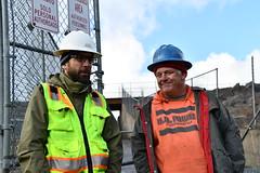 Engineer - John Gillilan (left) with project sponser Craig Dehart