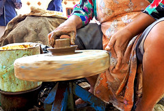 Traditional pottery making at the Borobudur village, Java, Indonesia