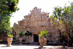 Traditional Javanese architecture in a historical complex in Yogyakarta, Indonesia