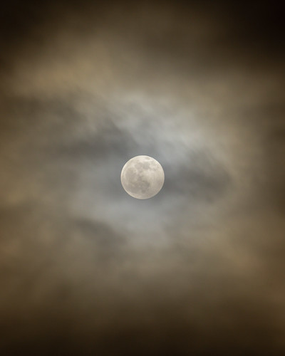 Moon, Thin Clouds