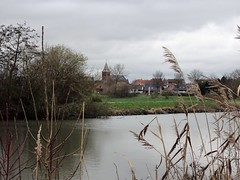 Vu de Deûlémont  sur le Pont Rouge, Mouscron Belgique