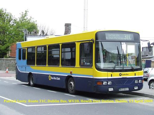 Route 31C,  Howth Dart Station to Sutton Station, Dublin Bus, WV20, 13 April 2009