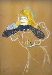 """""""Yvette Guilbert"""" d'H. de Toulouse-Lautrec (Grand Palais, Paris)"""
