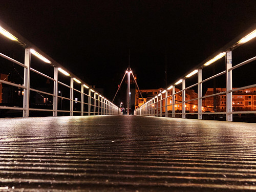 The harbour bridge of Greifswald