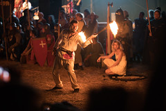 Torch juggler at a Medieval reenactment event