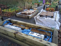 Beds covered for Winter
