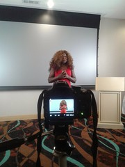 My wife Janice hosting a JMA Media Studios event that I took photographs  and videos.